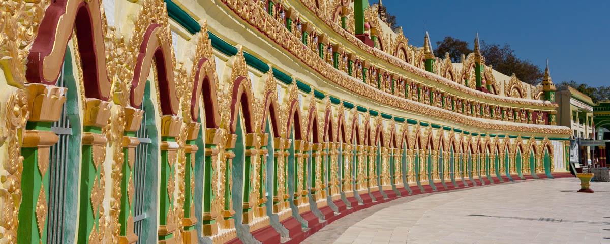 Myanmar-Sagaing-U_Min_Thoung_Ze_Pagoda-Colonnade
