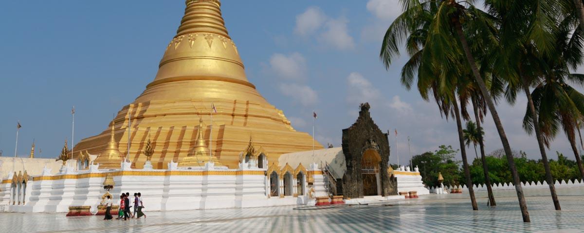 Sittwe_-_Law-Kamandar-Pagode_-_Haupt-Stupa
