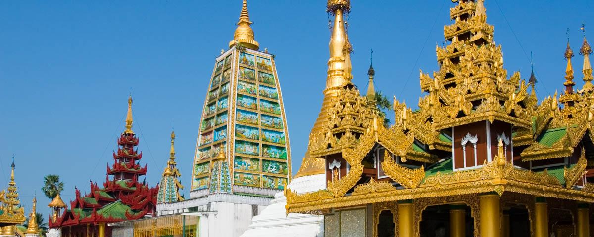 Myanmar - Yangon - the Maha Bodhi shrine on the site of the Shwe Dagon Pagoda