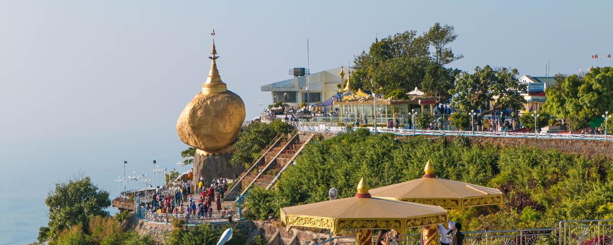 Myanmar - Kinpun Sakhan and Kyaikthiyo - Golden Rock Pagoda